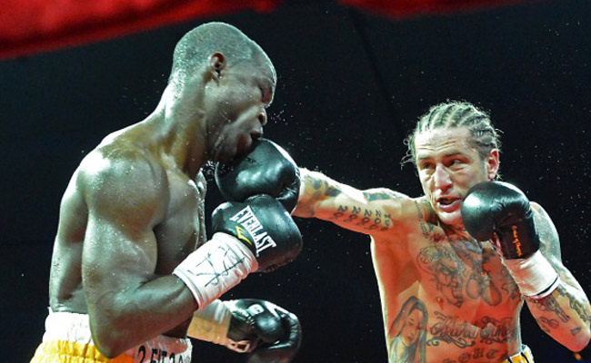 In his first fight in almost two years, Paul Spadafora (right) defeated Humberto Toledo in 2012.