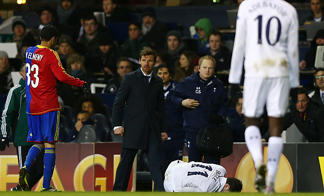Gareth Bale was injured late in Tottenham's 2-2 comeback draw against Basel in the Europa League.