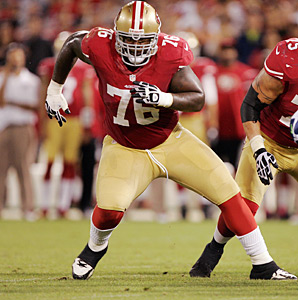 After starting 16 games in each of his first three seasons, Anthony Davis signed a five-year extension with the Niners.