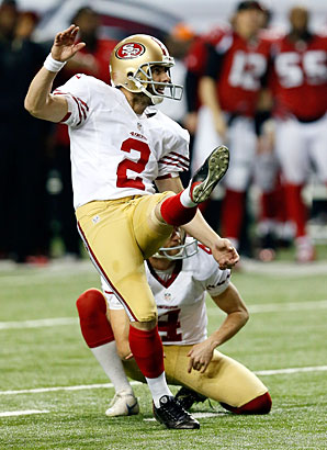 After a record-setting 2011, David Akers struggled last season, converting only 29 of 44 field-goal attempts for the Niners.