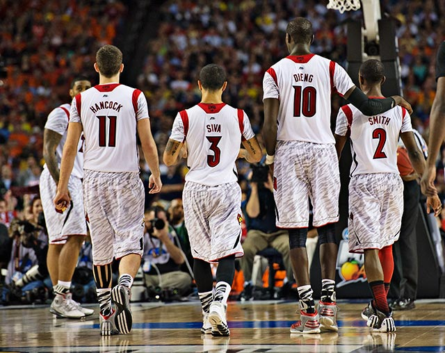 Louisville is one win away from taking care of some unfinished business after losing to Kentucky in last year's Final Four.