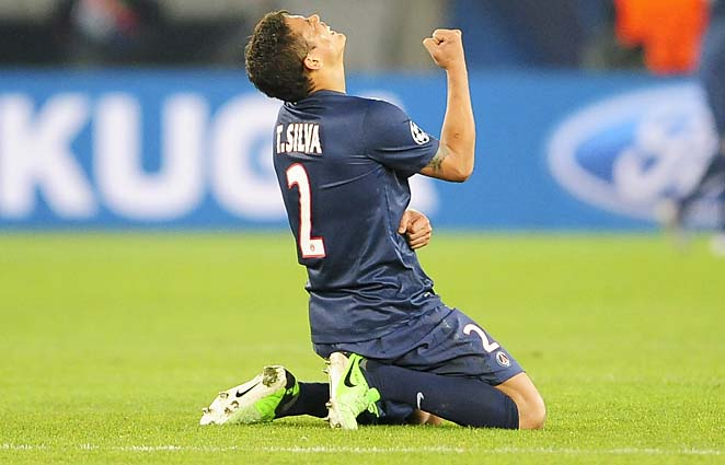 Thiago Silva and PSG are tied 2-2 with Barcelona after their first leg.