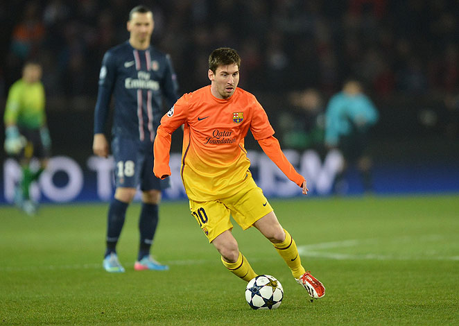 Lionel Messi scored in the first leg of Barca's matchup against PSG but is doubtful for the return game.