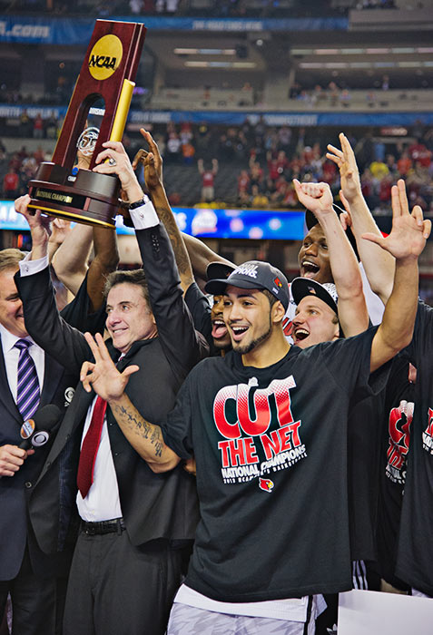 Louisville defeated ninth-seed Wichita State in a semifinal game, then got past Michigan 82-76 to win its first title since 1986.