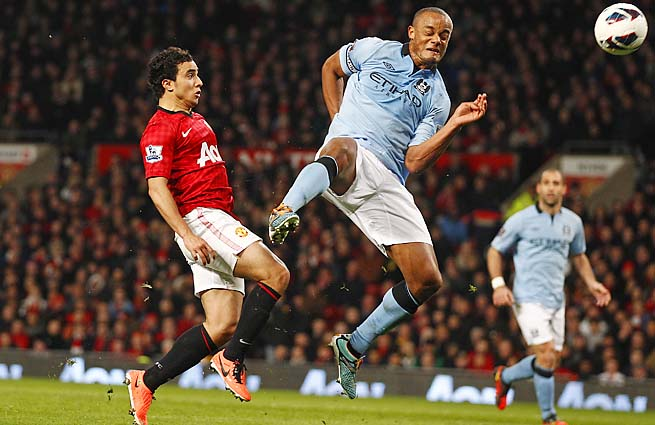 Vincent Kompany and Manchester City beat Manchester United 2-1 in Monday.