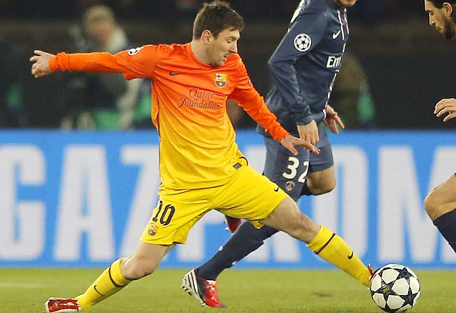 Lionel Messi and Barcelona are tied 2-2 with PSG after their first leg.