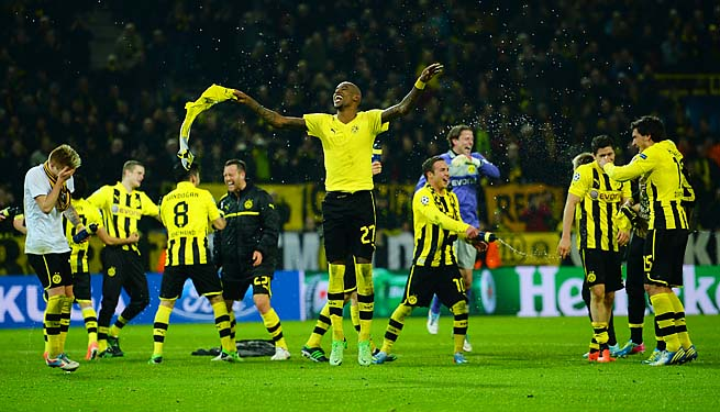 Borussia Dortmund celebrates its first trip to the Champions League semifinals in 15 years.