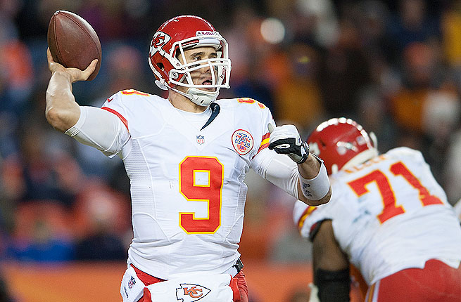 Brady Quinn started eight games for the Chiefs in place of Matt Cassell, but threw just two touchdowns.