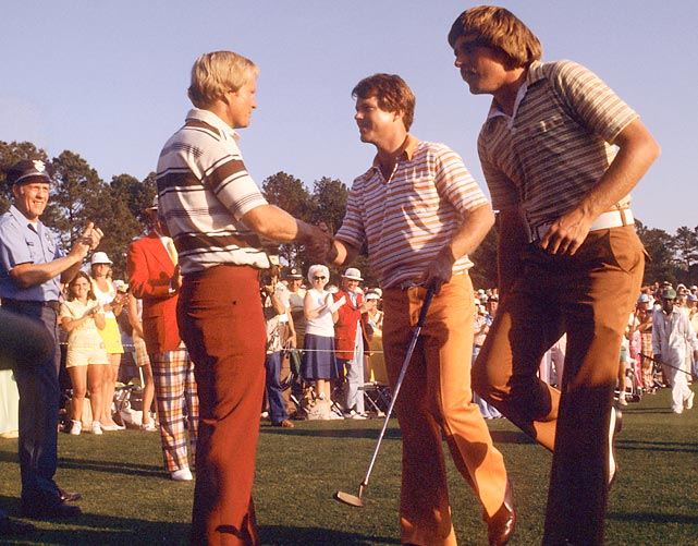 Tom Watson edged Jack Nicklaus by two strokes in '77.