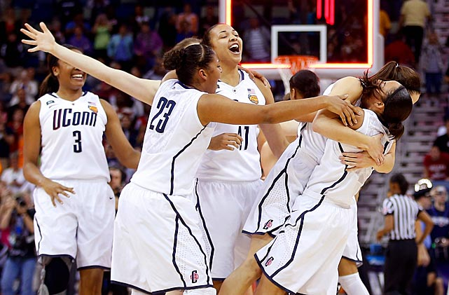 If UConn dominates like this already, what will the next four years look like? Geno Auriemma's group of prized freshmen steamrolled Louisville 93-60 to clinch its eighth national title, tying Tennessee for the most of all time. Anchored by star freshman Breanna Stewart, the Huskies looked every bit as good as some of their past championship teams. As a result, the rest of the women's college basketball scene should be terrified for the upcoming three seasons.
