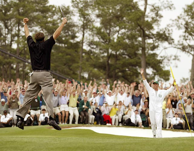 Phil Mickelson birdied the 18th hole to win his first major, at the 2004 Masters.