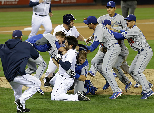 Zack Greinke and Carlos Quentin ignited a major melee on Thursday night in San Diego.
