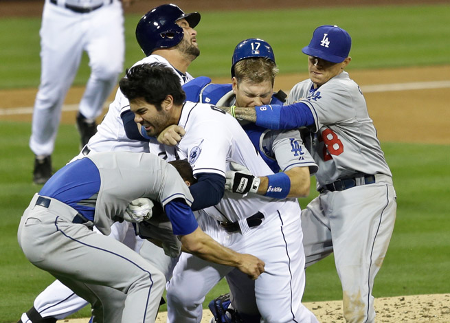The Dodgers-Padres brawl will cost Zack Greinke eight weeks and Carlos Quentin eight games.