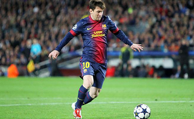 Lionel Messi and Barcelona lead La Liga and are in the Champions League semis.