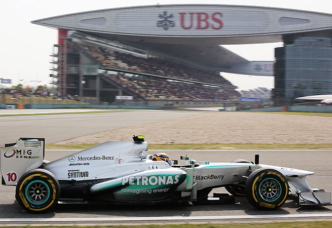 Lewis Hamilton's time of 1 minute, 34.484 seconds landed him the first starting spot on Sunday.