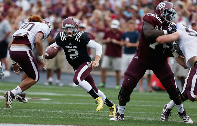 Heisman Johnny Manziel lit up Texas A&M's spring game with 303 passing yards earlier this year.