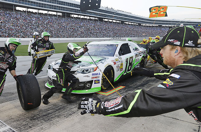 Kyle Busch's front stall on pit row and efficient crew keyed Busch's set of victories in Texas.