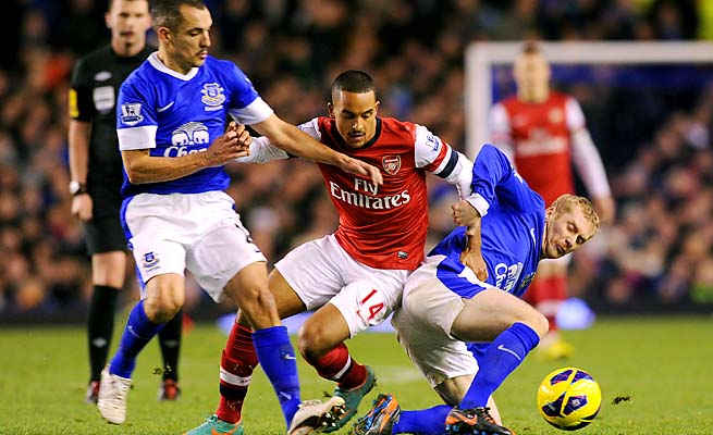 Theo Walcott and Arsenal drew Everton 1-1 on Nov. 28.