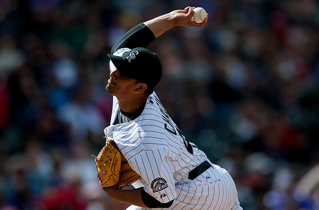 Pitcher Jhoulys Chacin's 2-0 record and 1.96 ERA have fueled Colorado's hot start, cooled Monday by snow.