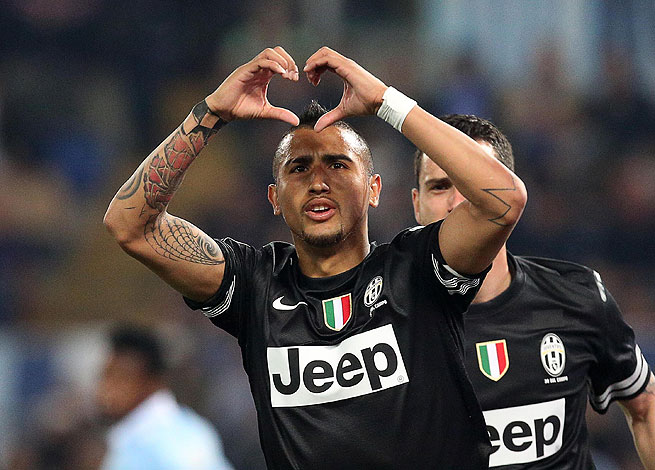 Arturo Vidal's first goals since November could not have come at a better time for the Bianconeri.