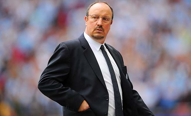 Rafa Benitez and Chelsea are in fourth place in the Premier League, one point behind Arsenal.