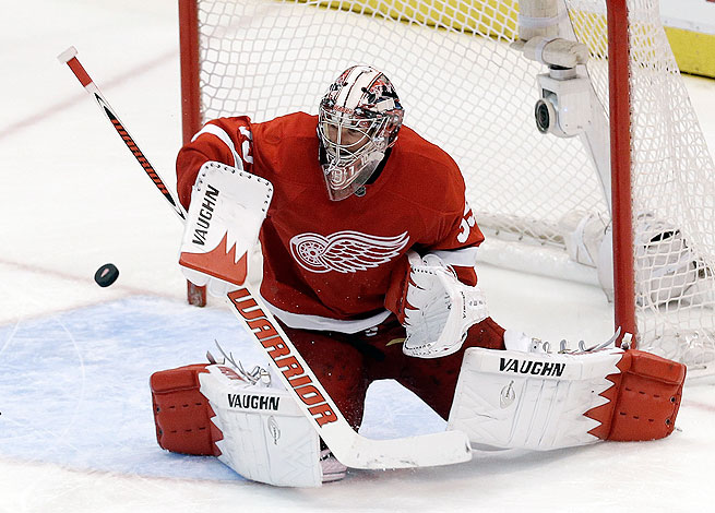 Jimmy Howard has posted a 17-12-6 record to go with a  2.31 GAA and a .920 save percentage this year.