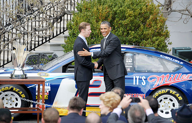 Brad Keselowski found himself a guest of President Barack Obama Wednesday at the White House.