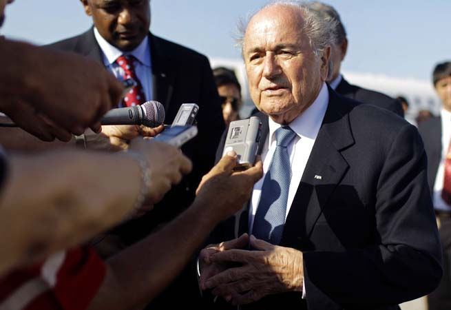 Sepp Blatter encouraged the AFC to push for more than their allotted five World Cup places.
