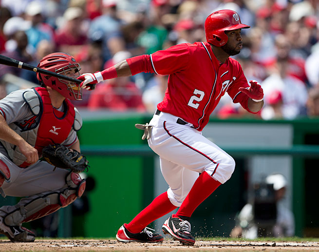 Denard Span is off to a strong start in his first season with the Nationals, batting .313 with a .421 OBP.