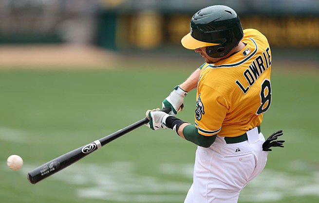 Jed Lowrie has helped Oakland to an early lead in the AL West.