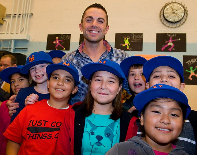 Mets third baseman visited with children at PS38 in Staten Island, N.Y., many of whom were greatly affected by Hurricane Sandy.