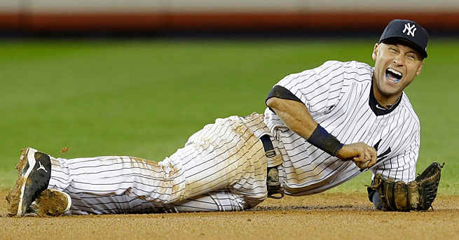 Derek Jeter has not played since breaking his ankle during last October's ALCS with the Tigers.
