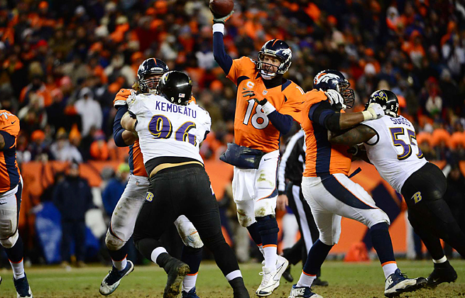 After losing to the Ravens in the playoffs, Peyton Manning hosts the Super Bowl champs in Week 1.