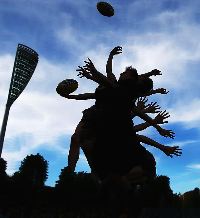 Welcome to <italics>Did You See That?</italics>, the gallery with tentacles that reach into the worlds of sports, pop culture and military affairs. We'll begin with this rather arresting shot of an umpire tossing the ball in during the round three match between the Greater Western Sydney Giants and the St. Kilda Saints at StarTrack Oval in Canberra.