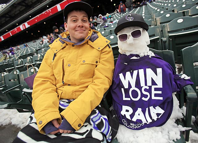 Andrew Tollerud and his very cool pal took in the game against the New York Mets at frost brewed Coors Field in Denver on April 16.