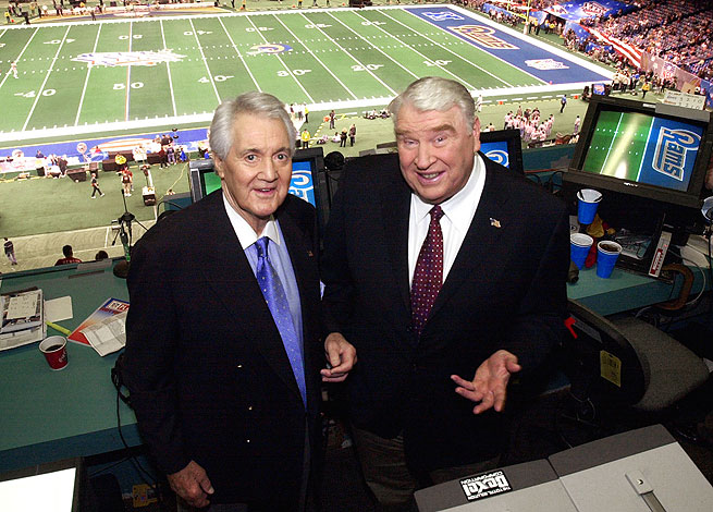 Pat Summerall (left) formed a celebrated pairing with John Madden in the broadcast booth for 22 years.