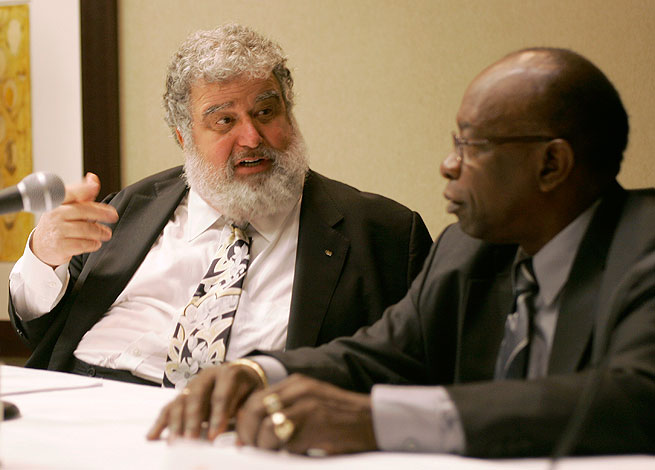 Chuck Blazer (left) and Jack Warner are facing accusations that they improperly used CONCACAF money.