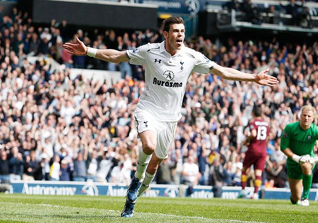 Gareth Bale scored Tottenham's third goal of the match, his 18th strike in the Premier League this season.