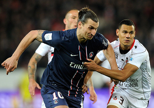 Zlatan Ibrahimovic netted his 27th goal this season and assisted on another in PSG's win over Nice.