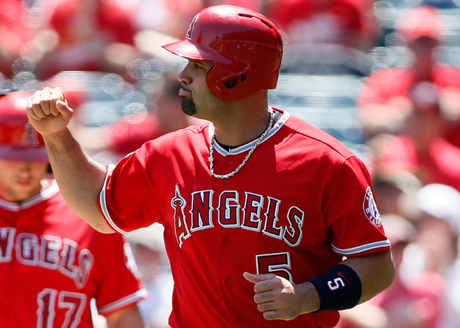 Albert Pujols is hitting, but how long until his foot problems land him on the DL and off your roster?