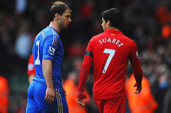 Luis Suarez was named a Player of the Year finalist two days before he bit Branislav Ivanovic.