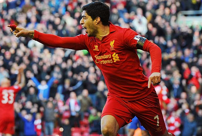 Luis Suarez and Liverpool are in seventh place in the Premier League.