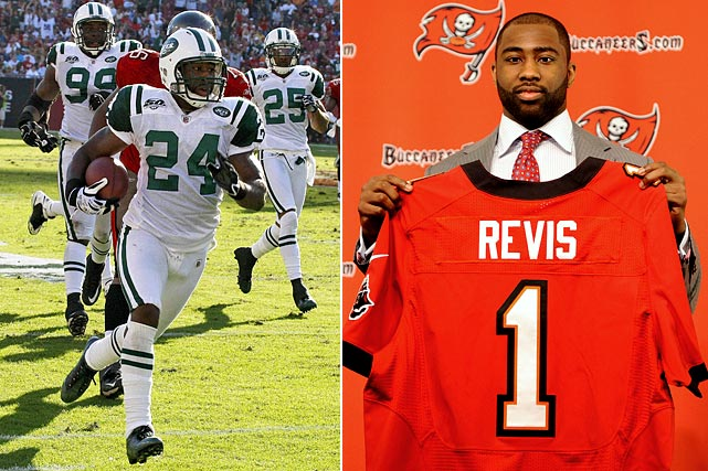 """Revis Island"" is headed south after the Tampa Bay Buccaneers acquired the star cornerback from the New York Jets for the No. 13 pick in this year's draft along with a conditional fourth-round pick next season. Revis has a six-year $96 million contract in place with the Bucs, though none of it is guaranteed money."