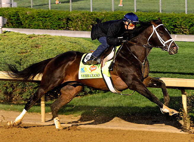 Verrazano hopes to become the first horse to win the Kentucky Derby without racing at age 2.