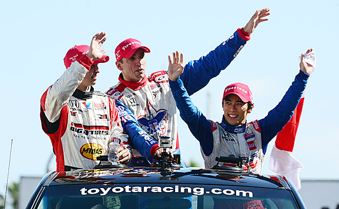 Fresh faces Graham Rahal, Justin Wilson and Takuma Sato took the Toyota GP's top three spots.