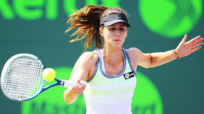 Tsvetana Pironkova won her first match since Hobart in January.
