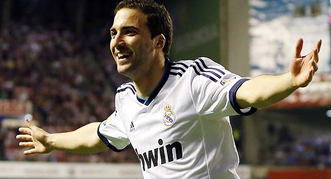 Gonzalo Higuain and Real Madrid play Dortmund at 2:45 p.m. ET on Wednesday.
