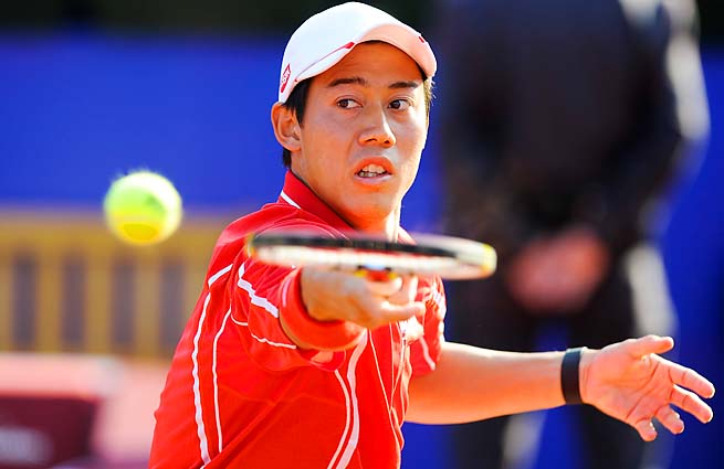 Kei Nishikori beat Spain's Guillermo Olaso to advance to the second round.