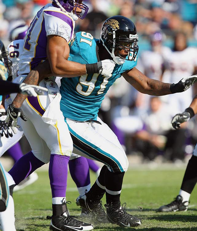 Having averaged more than 10 sacks in his last two years at Florida, Harvey topped out in his first season as an NFL player. At 3.5. Jacksonville let him go in 2010, after which he had one underwhelming season with the Broncos and was eventually dumped by the Bengals.