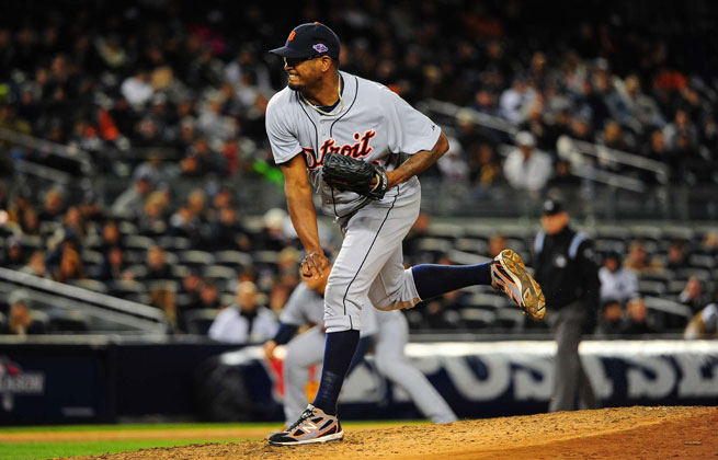Jose Valverde fell out of favor in Detroit with a poor 2012 postseason, but will return as the Tigers' closer Wednesday.